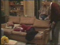 Bronwyn Davies, Harold Bishop, Madge Bishop in Neighbours Episode 1095
