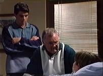 Paul McClain, Harold Bishop, Tad Reeves in Neighbours Episode 3456