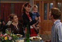 Libby Kennedy, Susan Kennedy, Ben Kirk, Cameron Hodder in Neighbours Episode 4268