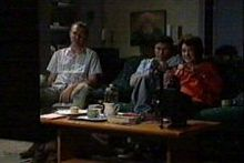 Max Hoyland, Lyn Scully, Joe Scully in Neighbours Episode 4270