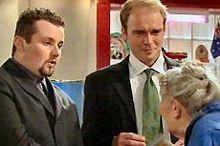 Toadie Rebecchi, Tim Collins, Rose Belker in Neighbours Episode 4350