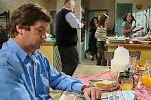 David Bishop, Harold Bishop, Liljana Bishop, Serena Bishop, Sky Mangel in Neighbours Episode 4353