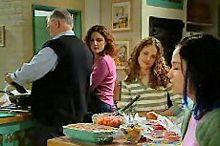 Harold Bishop, Liljana Bishop, Serena Bishop, Sky Mangel in Neighbours Episode 4353