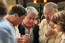 Joe Scully, Lou Carpenter, Harold Bishop, Lyn Scully in Neighbours Episode 4375