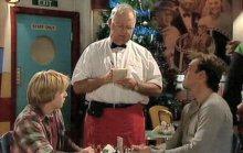 Jamie Clarke, Harold Bishop, Stuart Parker in Neighbours Episode 4390