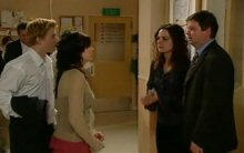 Boyd Hoyland, Sky Mangel, Liljana Bishop, David Bishop in Neighbours Episode 4396