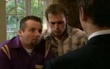 Toadie Rebecchi, Stuart Parker, Taj Coppin in Neighbours Episode 4400