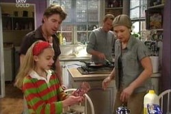 Gus Cleary, Steph Scully, Summer Hoyland, Max Hoyland in Neighbours Episode 4426