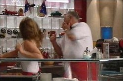Harold Bishop, Izzy Hoyland in Neighbours Episode 4431