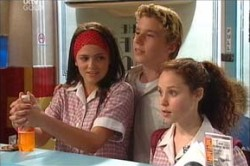 Sky Mangel, Boyd Hoyland, Serena Bishop in Neighbours Episode 4431