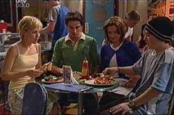 Sindi Watts, Jack Scully, Lyn Scully, Stingray Timmins in Neighbours Episode 4435