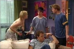 Sindi Watts, Stingray Timmins, Stuart Parker, Boyd Hoyland in Neighbours Episode 4436