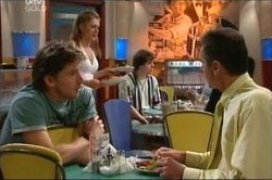 Gus Cleary, Karl Kennedy, Izzy Hoyland in Neighbours Episode 4442