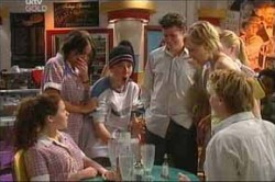 Serena Bishop, Stingray Timmins, Sindi Watts, Boyd Hoyland in Neighbours Episode 4443