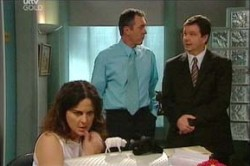 Liljana Bishop, Karl Kennedy, David Bishop in Neighbours Episode 4444