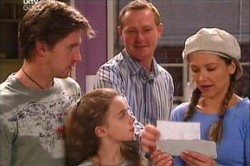Gus Cleary, Max Hoyland, Steph Scully, Summer Hoyland in Neighbours Episode 4448