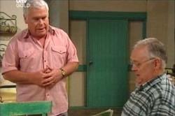 Lou Carpenter, Harold Bishop in Neighbours Episode 4448
