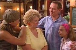 Valda Sheergold, Summer Hoyland, Max Hoyland, Steph Scully in Neighbours Episode 4448