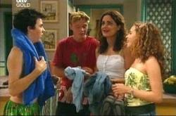 Stingray Timmins, Boyd Hoyland, Liljana Bishop, Serena Bishop in Neighbours Episode 4495