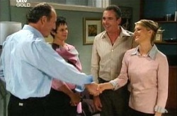 Stanford Mundy, Mandy Munday, Karl Kennedy, Izzy Hoyland in Neighbours Episode 4496