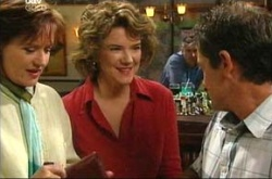 Susan Kennedy, Lyn Scully, Tom Scully in Neighbours Episode 4498