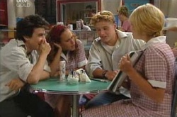 Stingray Timmins, Serena Bishop, Boyd Hoyland, Sky Mangel in Neighbours Episode 4499