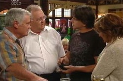 Lou Carpenter, Harold Bishop, Darren Stark, Susan Kennedy in Neighbours Episode 4499