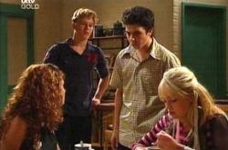 Boyd Hoyland, Stingray Timmins, Serena Bishop, Sky Mangel in Neighbours Episode 4506
