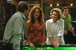 David Bishop, Liljana Bishop, Lyn Scully in Neighbours Episode 4515