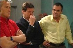 Max Hoyland, David Bishop, Karl Kennedy in Neighbours Episode 4515