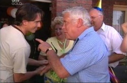 Darren Stark, Lou Carpenter, Harold Bishop, Valda Sheergold in Neighbours Episode 4515
