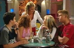Stingray Timmins, Serena Bishop, Izzy Hoyland, Sky Mangel, Boyd Hoyland in Neighbours Episode 4522