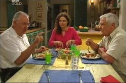 Harold Bishop, Lou Carpenter, Liljana Bishop in Neighbours Episode 4524