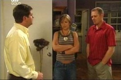 David Bishop, Steph Scully, Max Hoyland in Neighbours Episode 4524