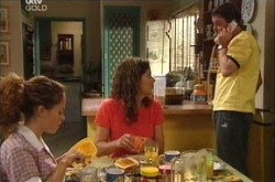 Serena Bishop, Liljana Bishop, David Bishop in Neighbours Episode 4525