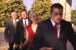 Harold Bishop, Sindi Watts, Toadie Rebecchi, David Bishop in Neighbours Episode 4526