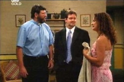 Father Popovich, David Bishop, Liljana Bishop in Neighbours Episode 4529