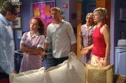 Toadie Rebecchi, Serena Bishop, Boyd Hoyland, Sky Mangel, Sindi Watts in Neighbours Episode 4537