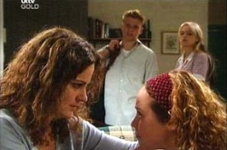 Boyd Hoyland, Liljana Bishop, Sky Mangel, Serena Bishop in Neighbours Episode 4537