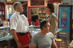 Harold Bishop, Darren Stark, Karl Kennedy in Neighbours Episode 4541