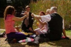 Liljana Bishop, David Bishop, Serena Bishop, Sky Mangel, Harold Bishop in Neighbours Episode 4543