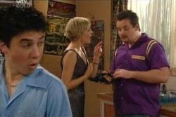Stingray Timmins, Sindi Watts, Toadie Rebecchi in Neighbours Episode 4555