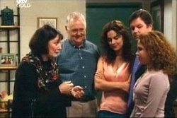 Svetlanka Ristic, Harold Bishop, Liljana Bishop, David Bishop, Serena Bishop in Neighbours Episode 4567