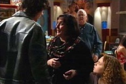 Luka Dokic, Serena Bishop, Svetlanka Ristic, Harold Bishop in Neighbours Episode 4568