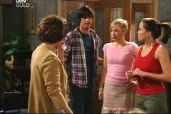 Lyn Scully, Jack Scully, Sindi Watts, Libby Kennedy in Neighbours Episode 4570