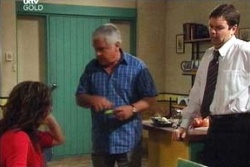 Lou Carpenter, David Bishop, Liljana Bishop in Neighbours Episode 4573