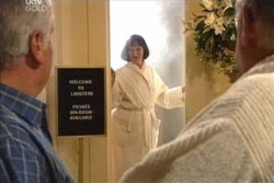 Lou Carpenter, Svetlanka Ristic, Harold Bishop in Neighbours Episode 4573