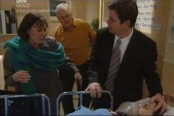 Svetlanka Ristic, Harold Bishop, David Bishop in Neighbours Episode 4580