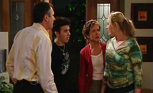Karl Kennedy, Stingray Timmins, Susan Kennedy, Janelle Timmins in Neighbours Episode 4803