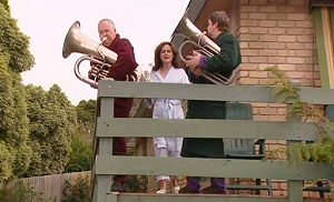 Harold Bishop, Liljana Bishop, David Bishop in Neighbours Episode 4803